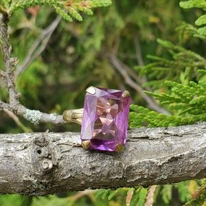 Vintage gold amethyst ring deco